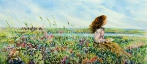 Pioneer Girl painting